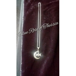 Crescent Moon Triple Moon Pendant
