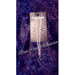 Dopamine Neurotransmitter Earring & Pendant Set